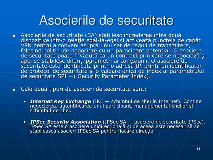 Asocierile de securitate