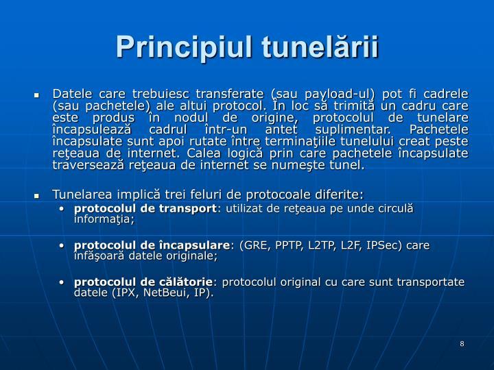 Principiul tunelării
