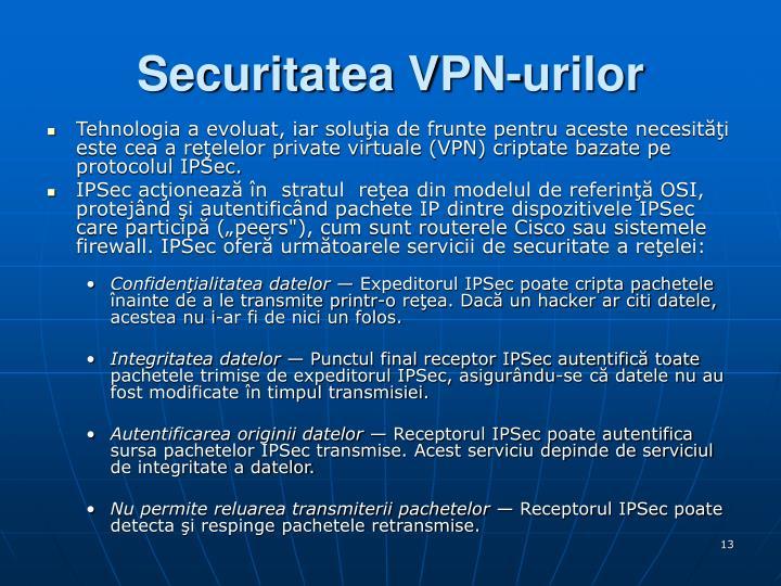 Securitatea VPN-urilor
