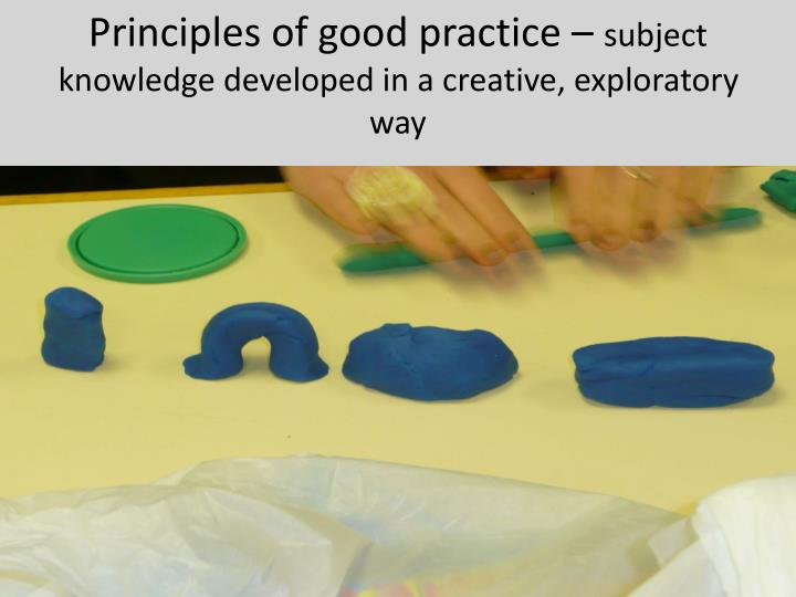 Principles of good practice –