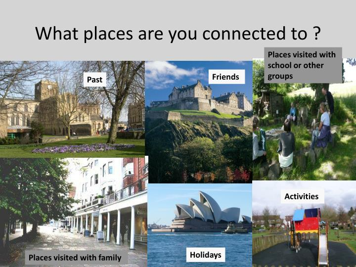 What places are you connected to ?
