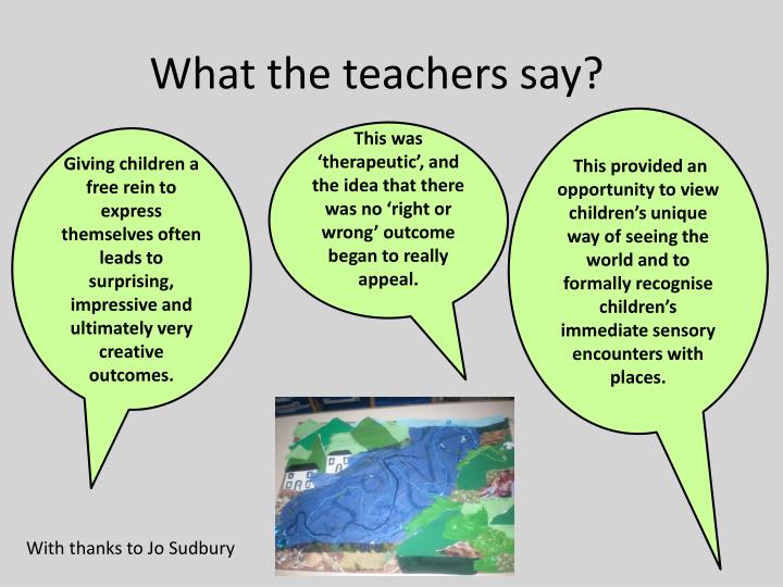 What the teachers say?