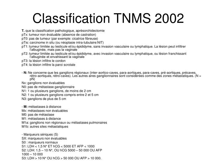Classification TNMS 2002
