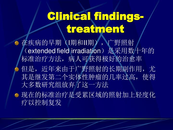 Clinical findings-treatment