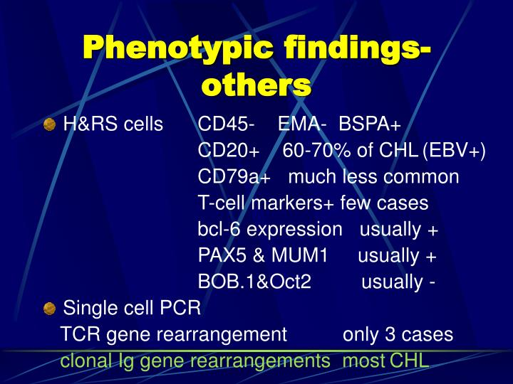 Phenotypic findings-others