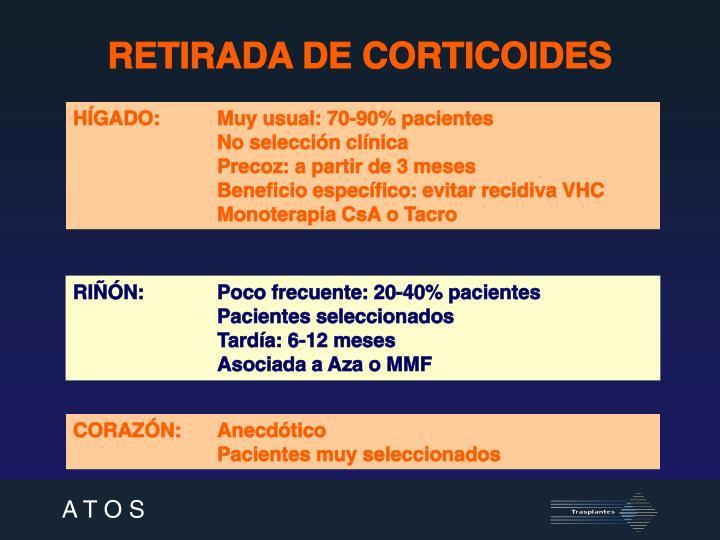 RETIRADA DE CORTICOIDES