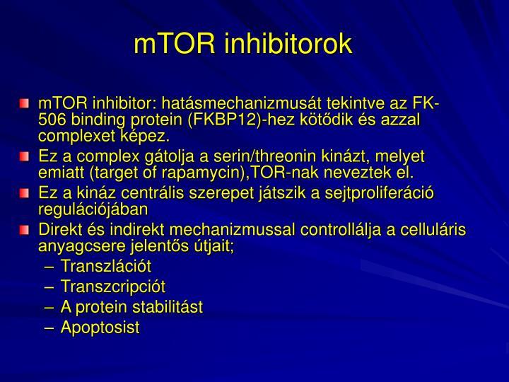 mTOR inhibitorok