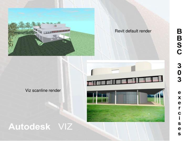 Revit default render