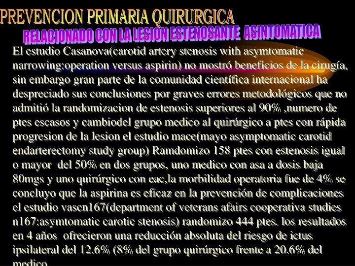 PREVENCION PRIMARIA QUIRURGICA
