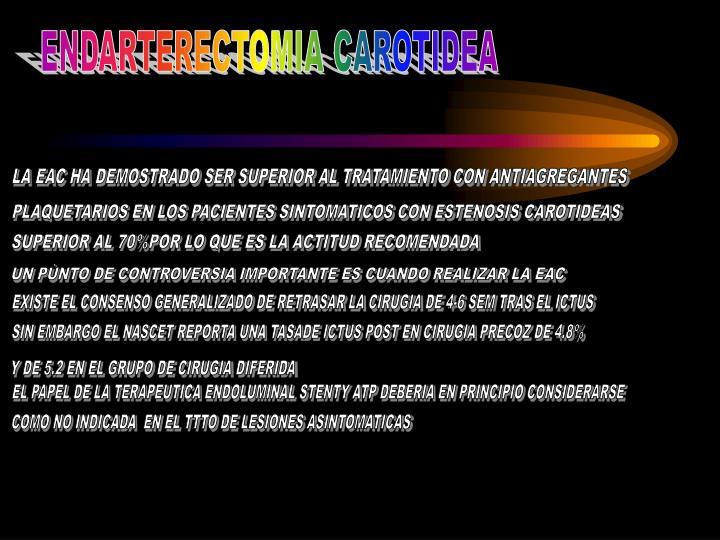 ENDARTERECTOMIA CAROTIDEA