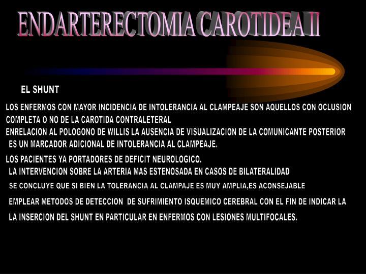 ENDARTERECTOMIA CAROTIDEA II