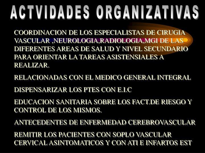 ACTVIDADES ORGANIZATIVAS