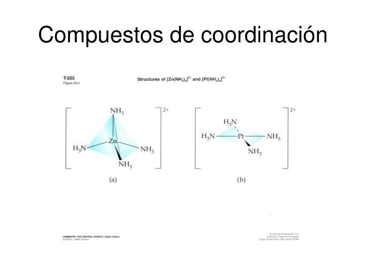 Compuestos de coordinación