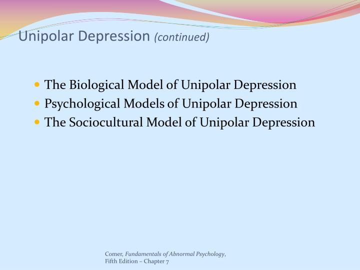 Unipolar Depression