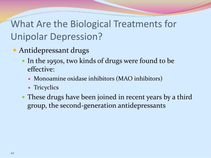 What Are the Biological Treatments for Unipolar Depression?