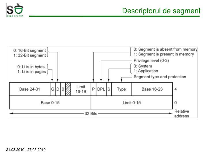 Descriptorul de segment