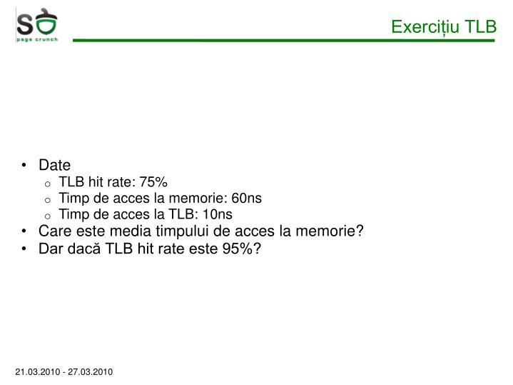 Exercițiu TLB