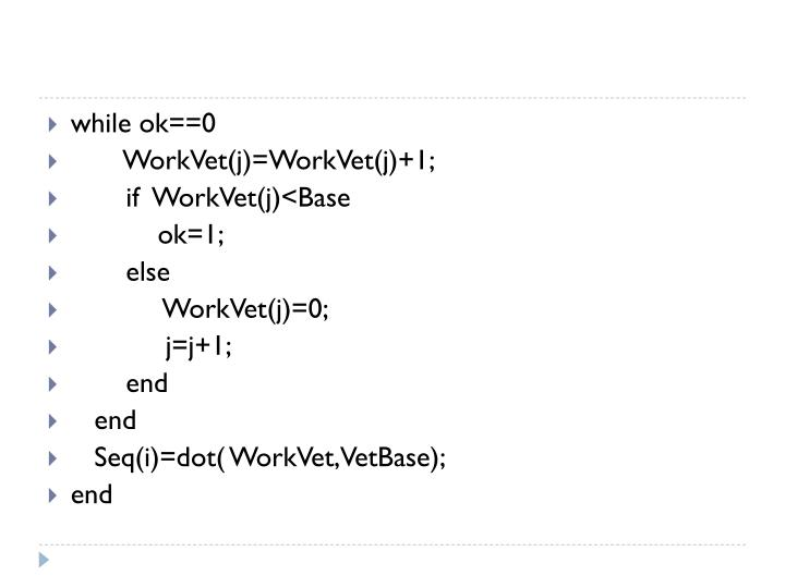 while ok==0