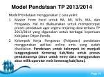 model pendataan tp 2013 2014