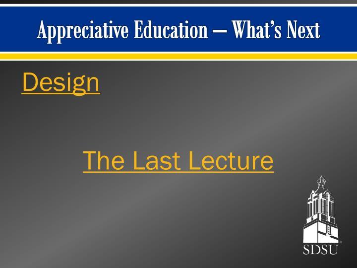 Appreciative Education – What's Next
