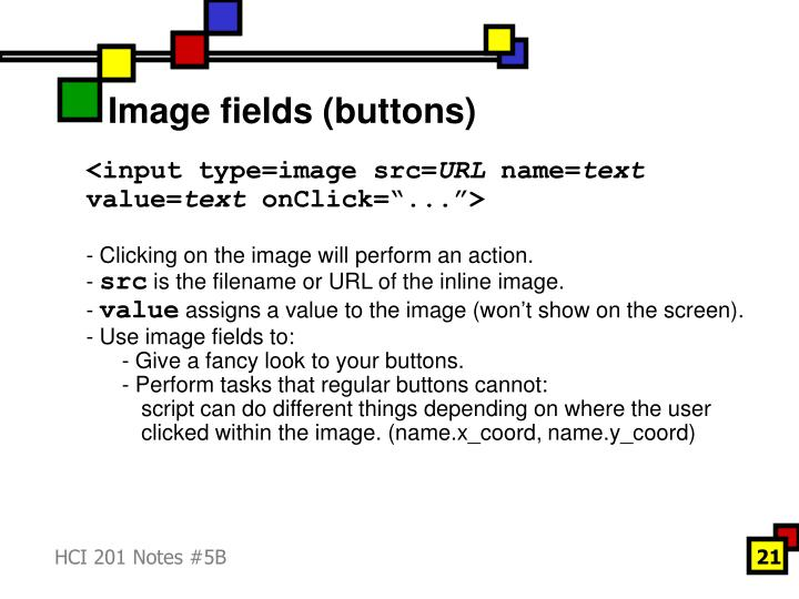 Image fields (buttons)