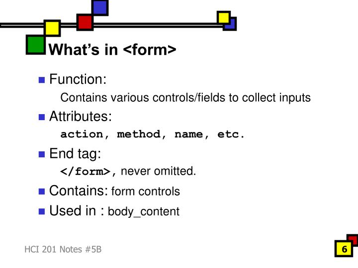 What's in <form>