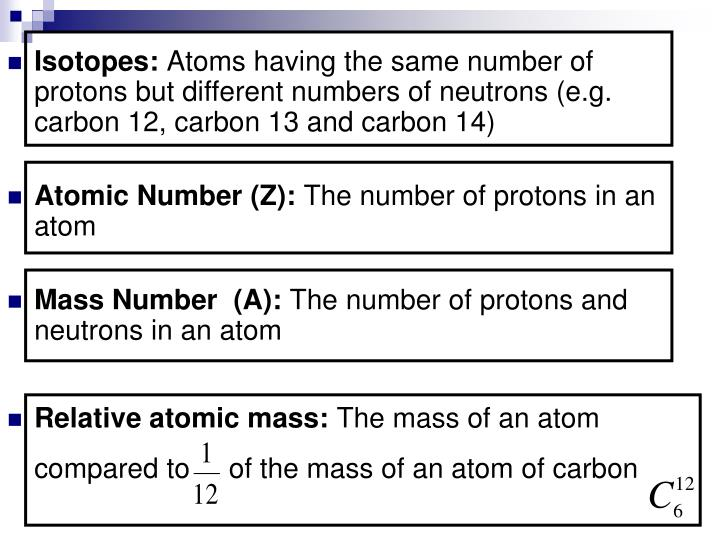 Isotopes:
