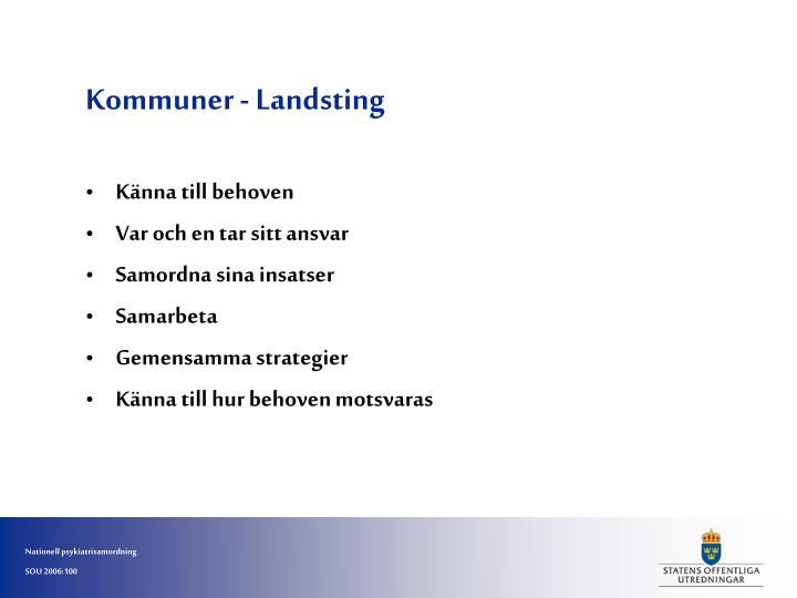 Kommuner - Landsting
