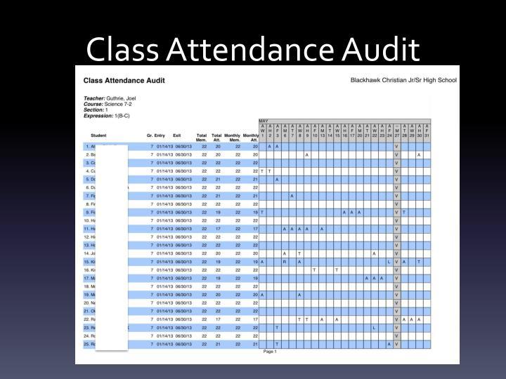 Class Attendance Audit