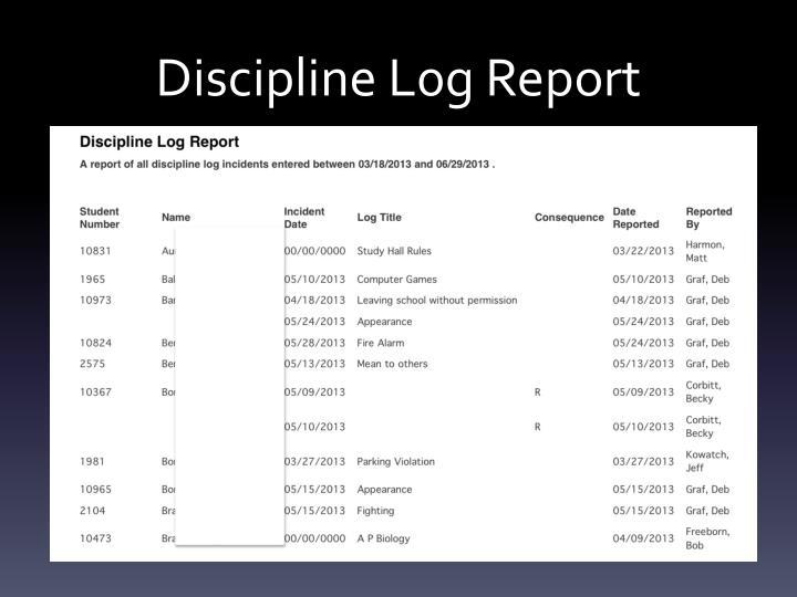 Discipline L0g Report