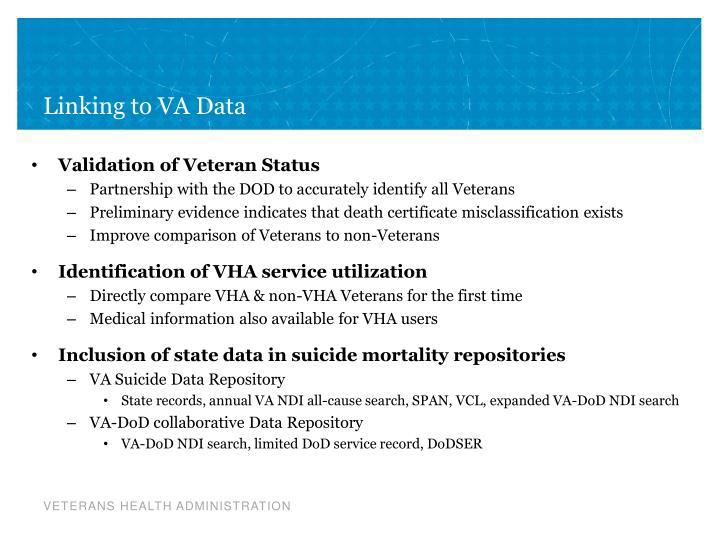 Linking to VA Data