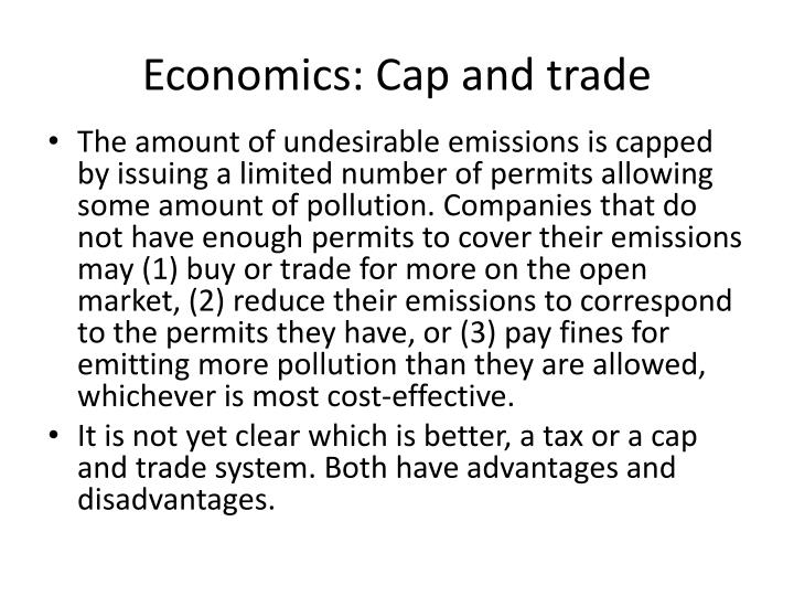 Economics: Cap and trade