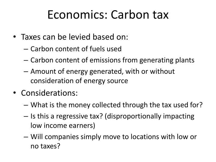Economics: Carbon tax