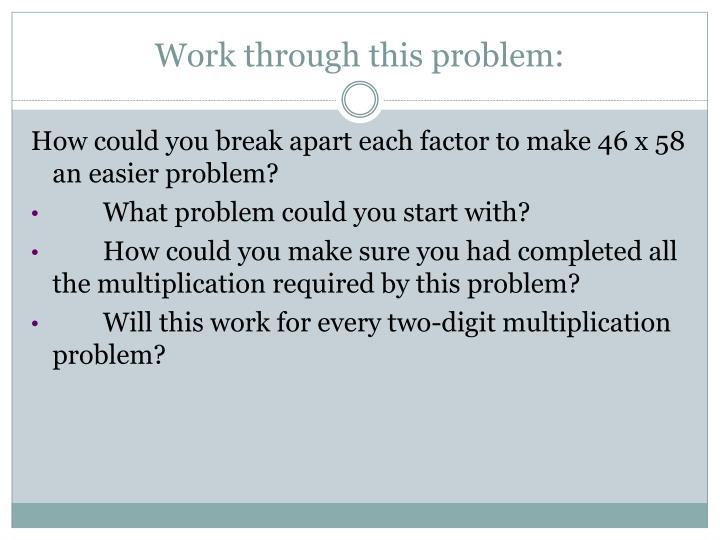 Work through this problem: