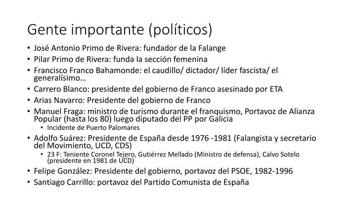 Gente importante (políticos)