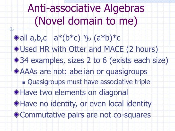 Anti-associative Algebras