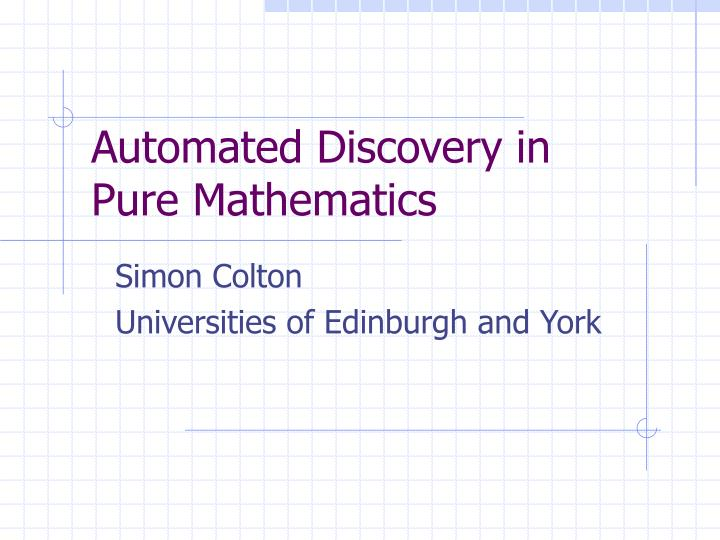 Automated Discovery in