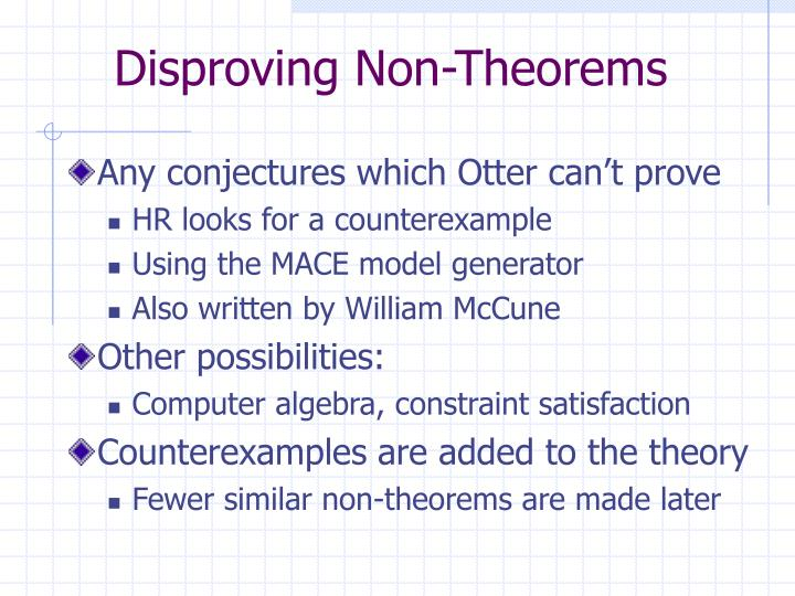 Disproving Non-Theorems