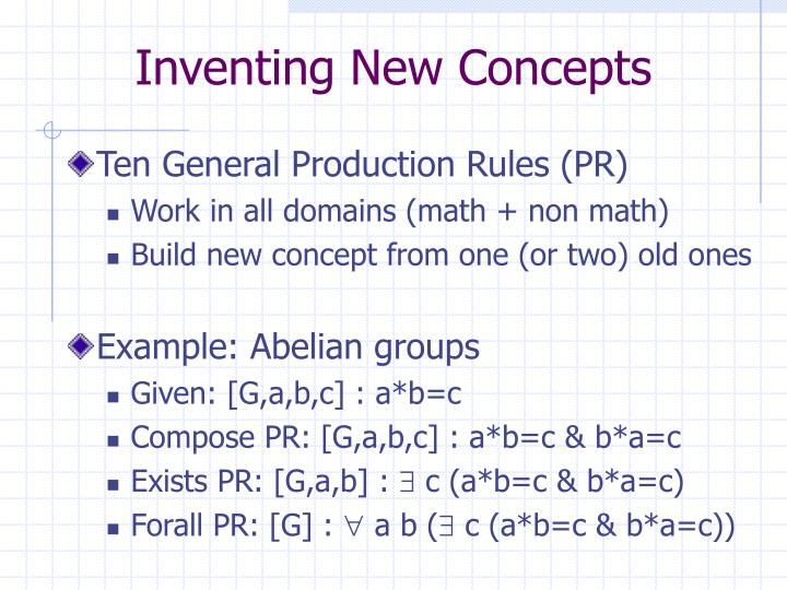 Inventing New Concepts