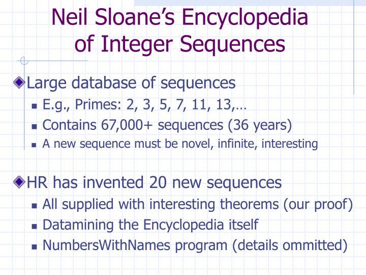 Neil Sloane's Encyclopedia
