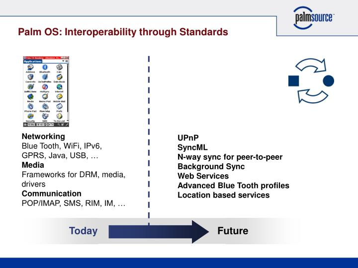 Palm OS: Interoperability through Standards