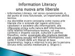 information literacy una nuova arte liberale