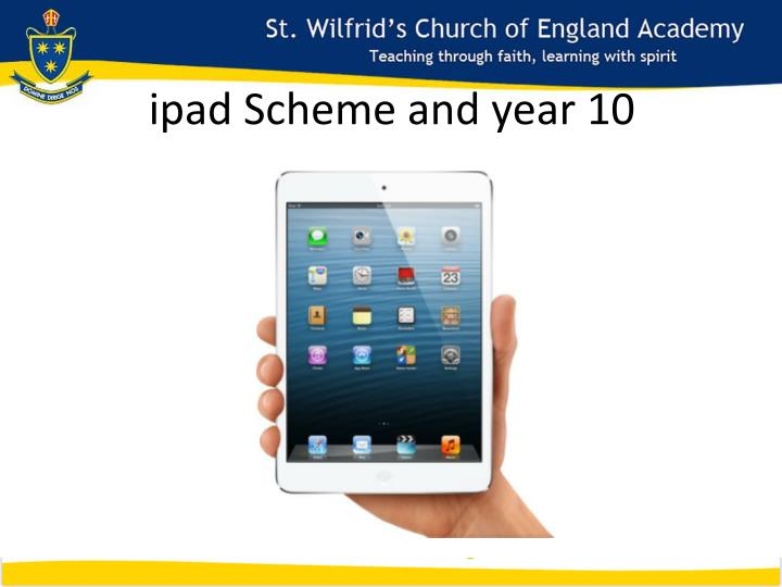 ipad Scheme and year 10