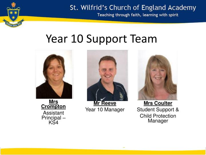 Year 10 Support Team
