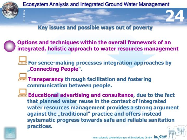 Ecosystem Analysis and Integrated Ground Water Management