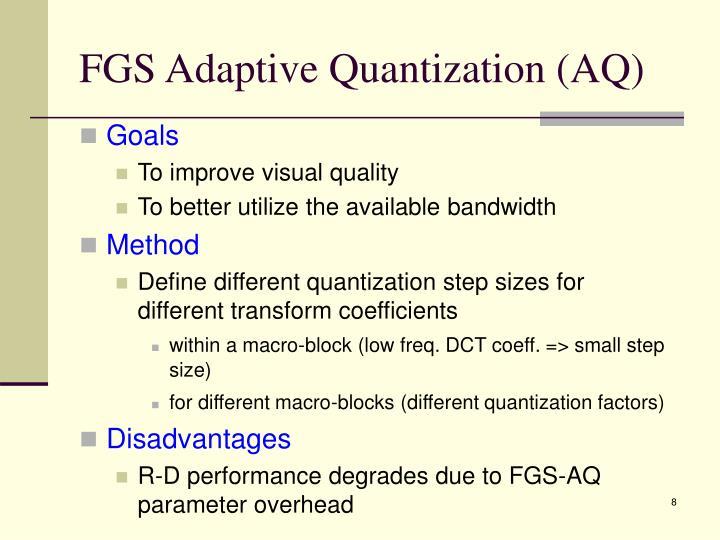 FGS Adaptive Quantization (AQ)