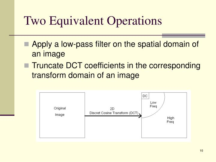 Two Equivalent Operations