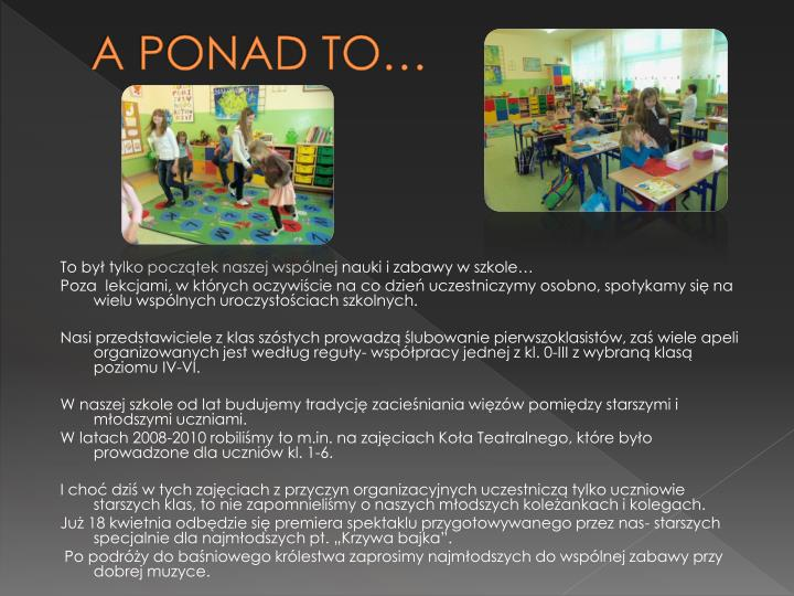 A PONAD TO…