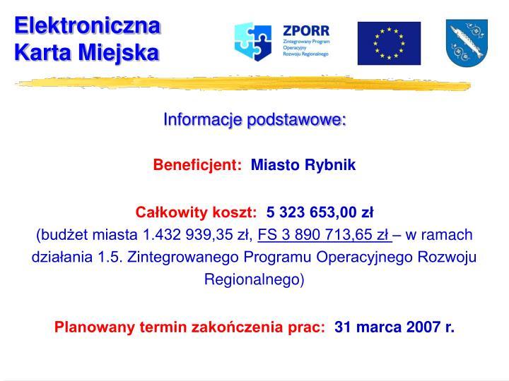 Informacje podstawowe: