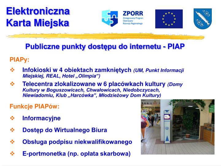 Publiczne punkty dostępu do internetu - PIAP